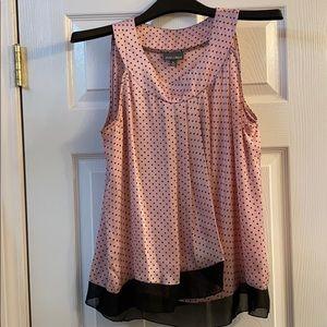 Roz & Ali pink polka dotted Sleeveless shirt